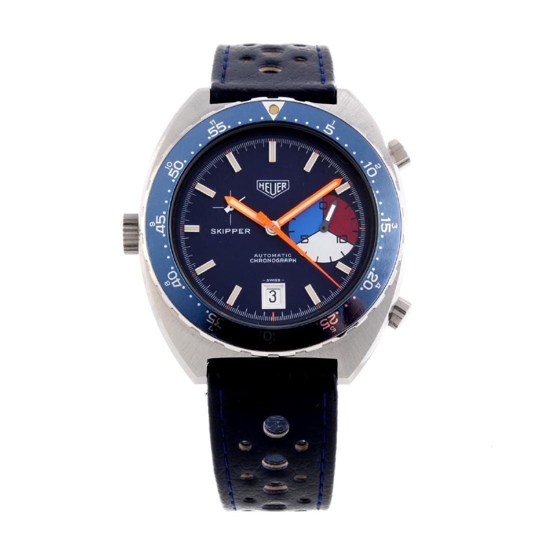 HEUER - a gentleman's Skipper chronograph wrist watch.
