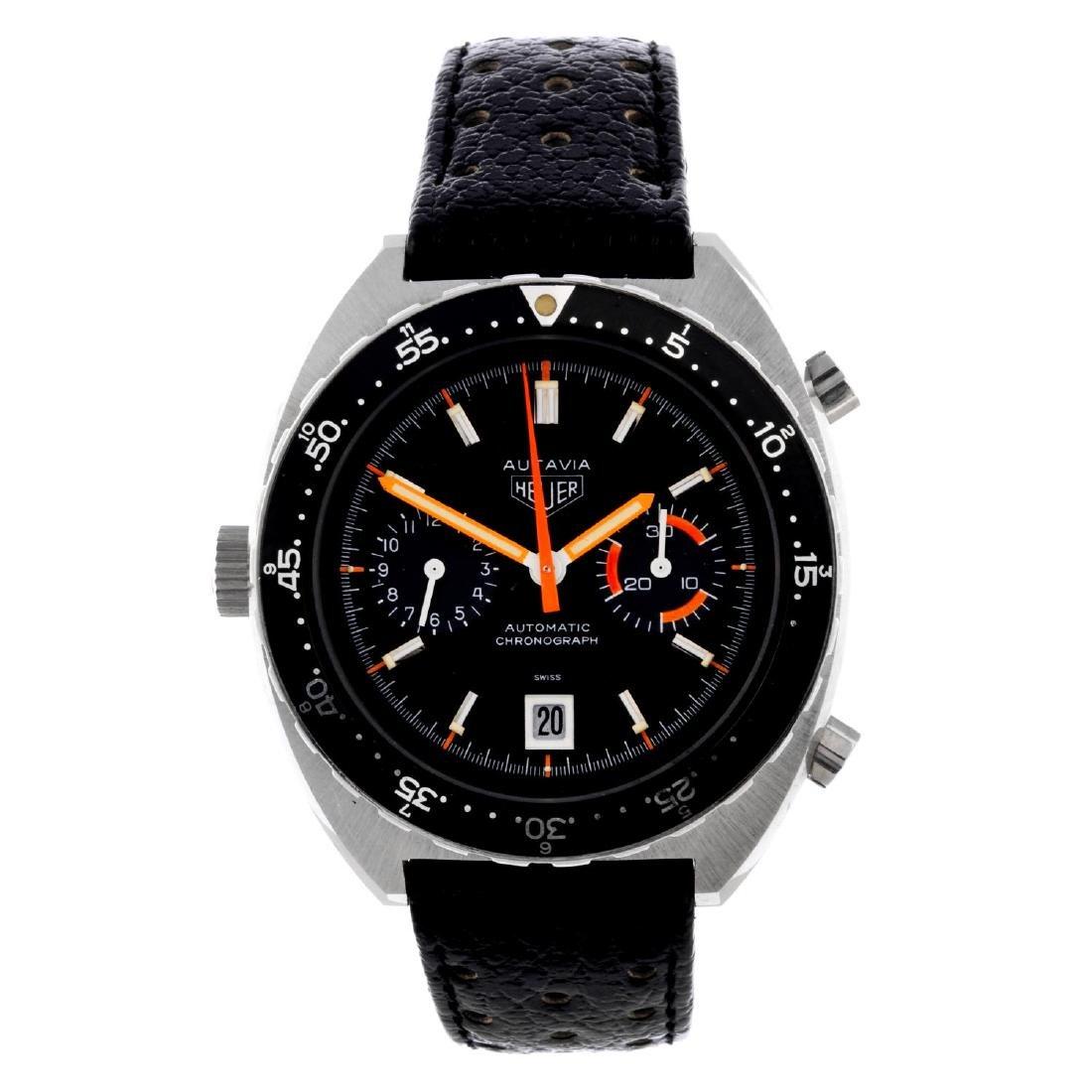 HEUER - a gentleman's Autavia chronograph wrist watch.