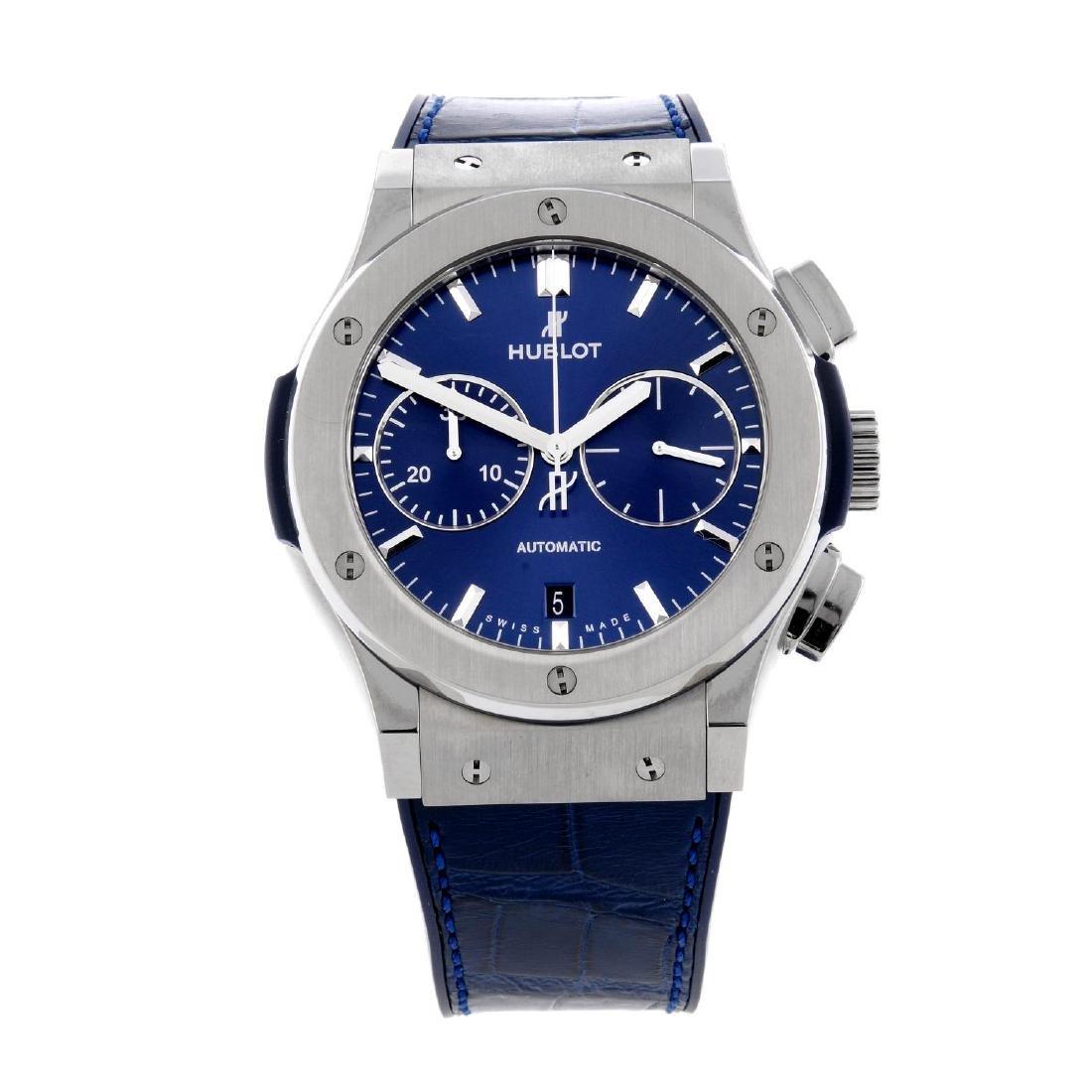 HUBLOT - a Classic Fusion chronograph wrist watch.