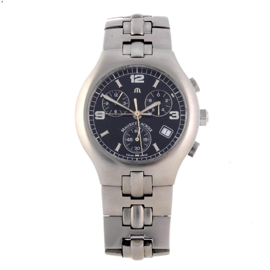 MAURICE LACROIX - a gentleman's chronograph bracelet