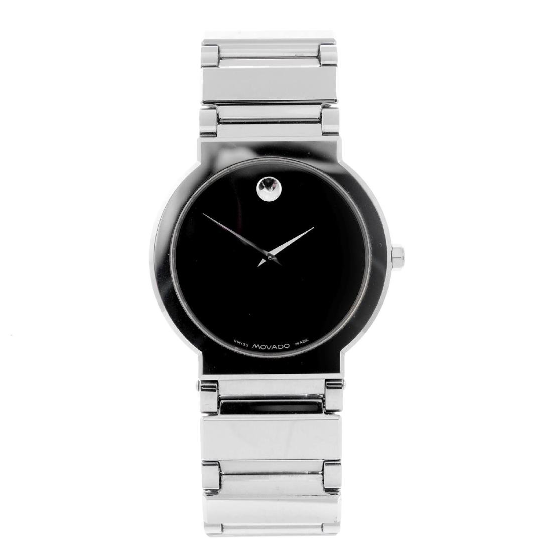 MOVADO - a gentleman's Valor bracelet watch. Tungsten