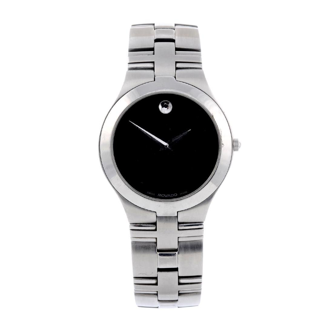 MOVADO - a gentleman's Museum bracelet watch. Stainless