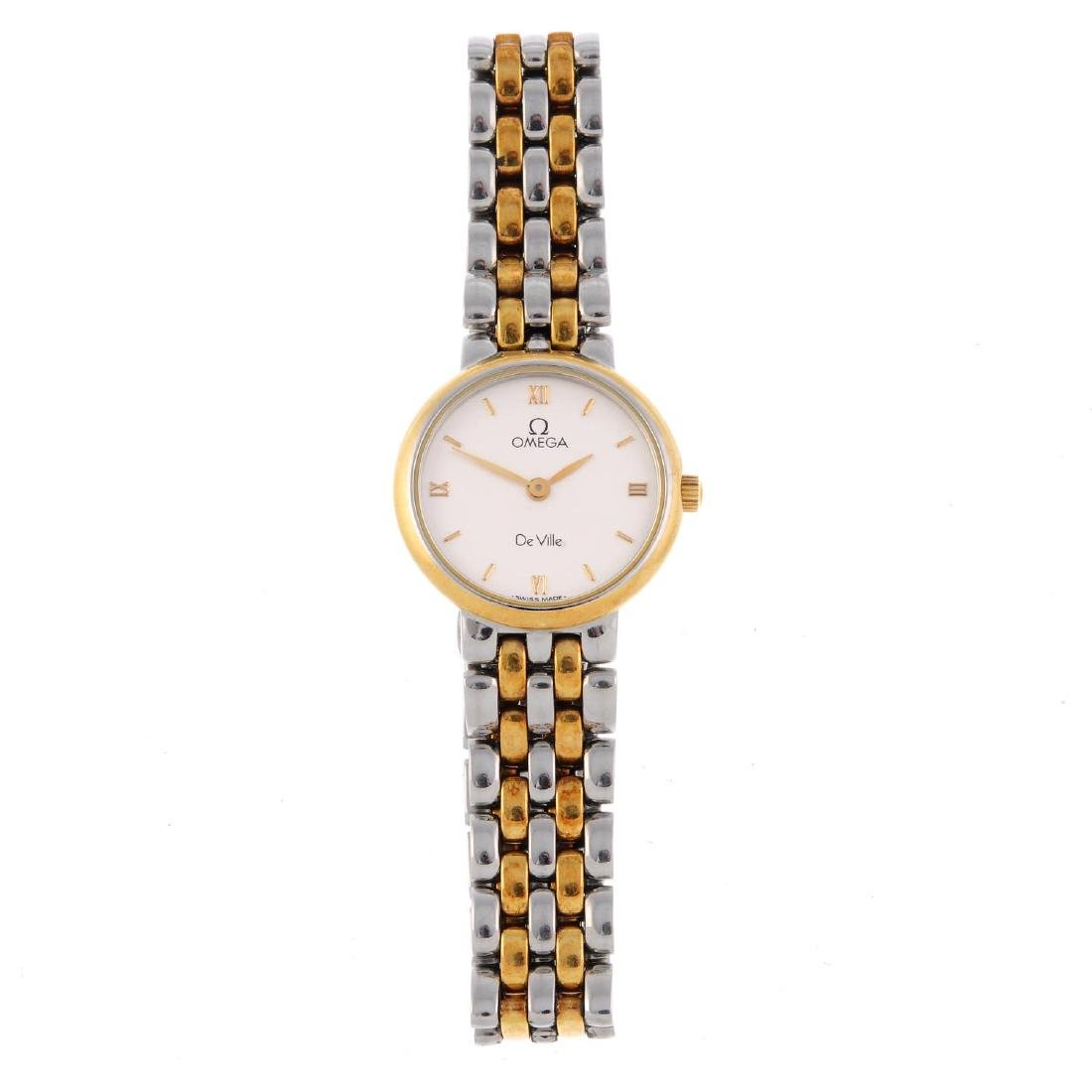OMEGA - a lady's De Ville bracelet watch. Bi-colour
