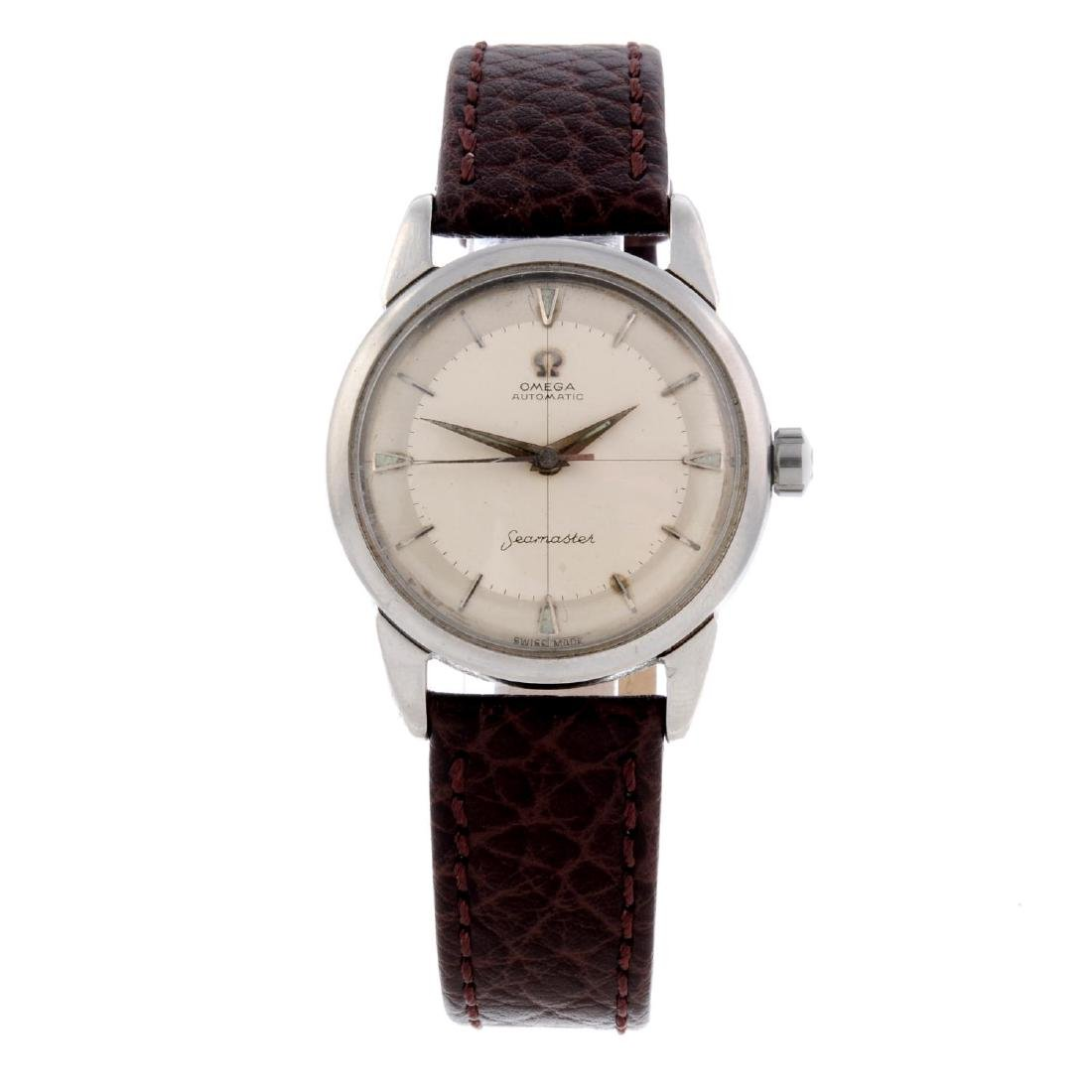 OMEGA - a gentleman's Seamaster wrist watch. Stainless