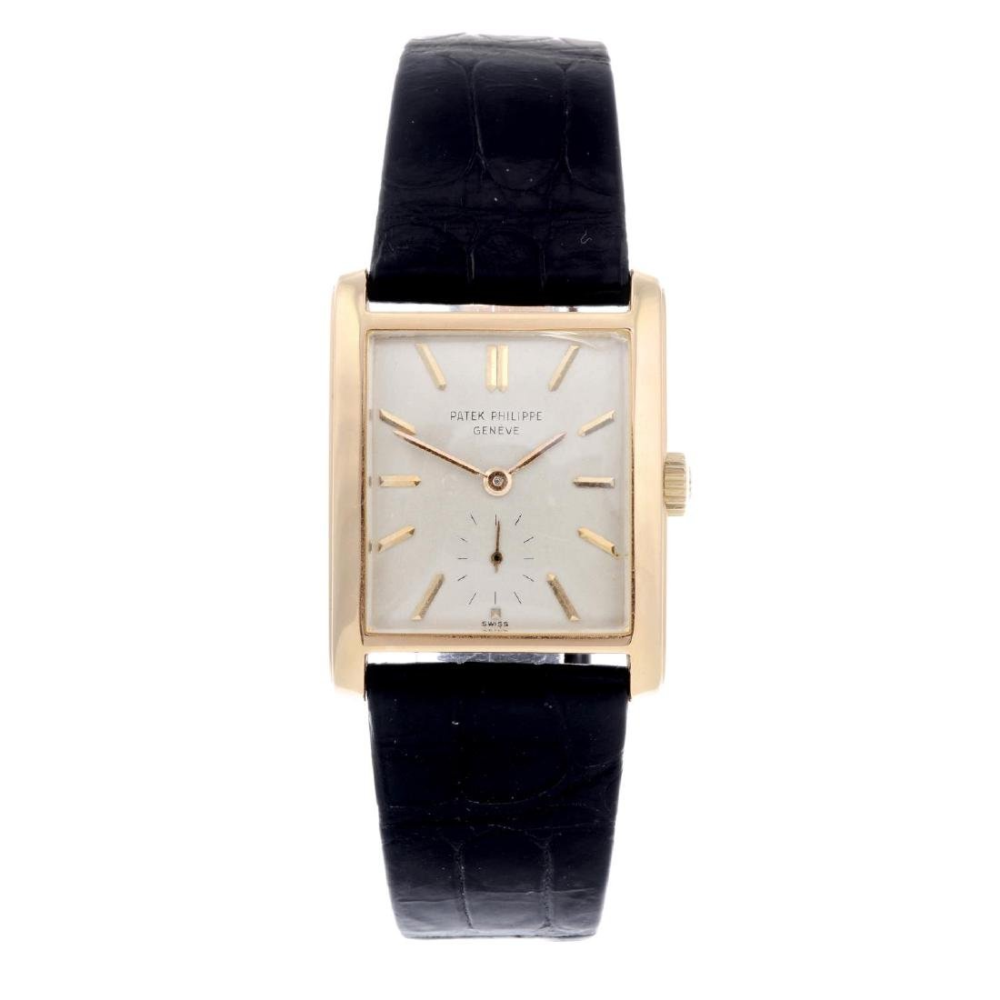 PATEK PHILIPPE - a gentleman's Rectangular wrist watch.