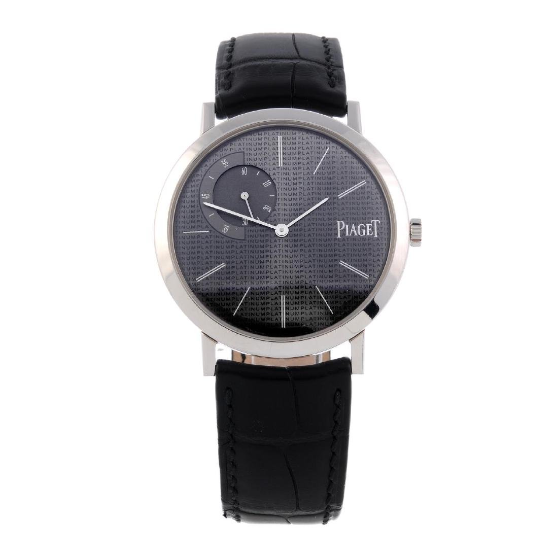 PIAGET - a gentleman's Altiplano wrist watch. Platinum