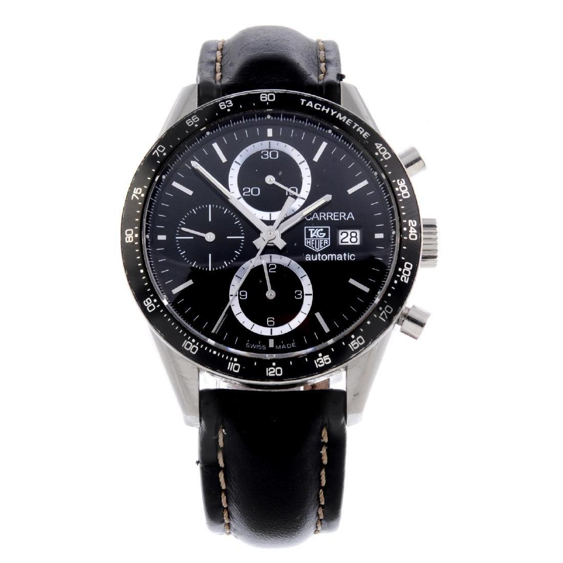 TAG HEUER - a gentleman's Carrera chronograph wrist