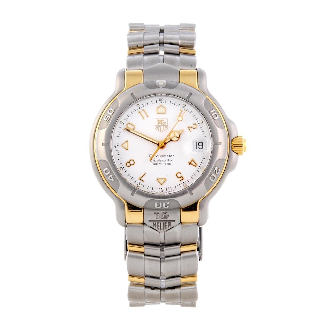 TAG HEUER - a gentleman's 6000 Series bracelet watch.