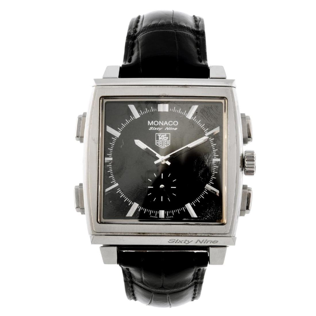 TAG HEUER - a gentleman's Monaco Sixty Nine wrist