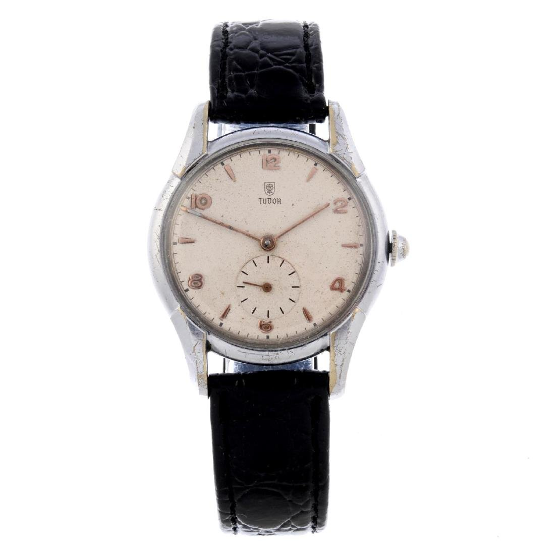 TUDOR - a gentleman's wrist watch. Stainless steel