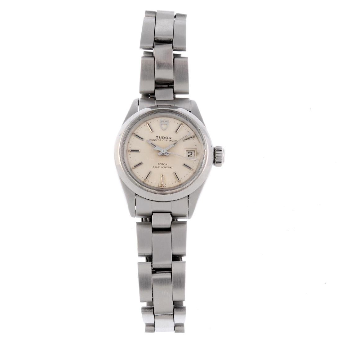 TUDOR - a lady's Princess Oysterdate bracelet watch.