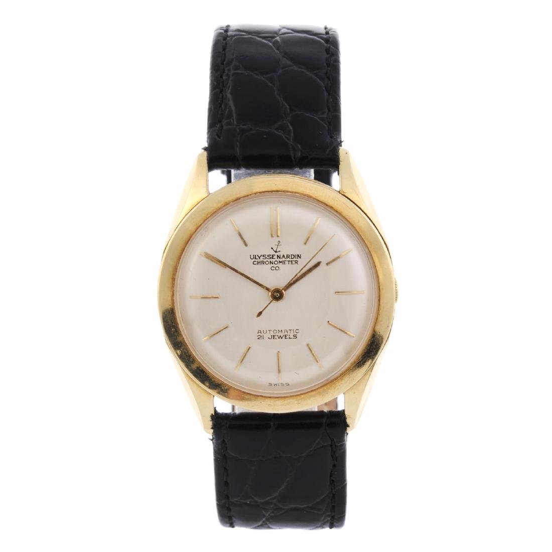 ULYSSE NARDIN - a gentleman's wrist watch. Yellow metal