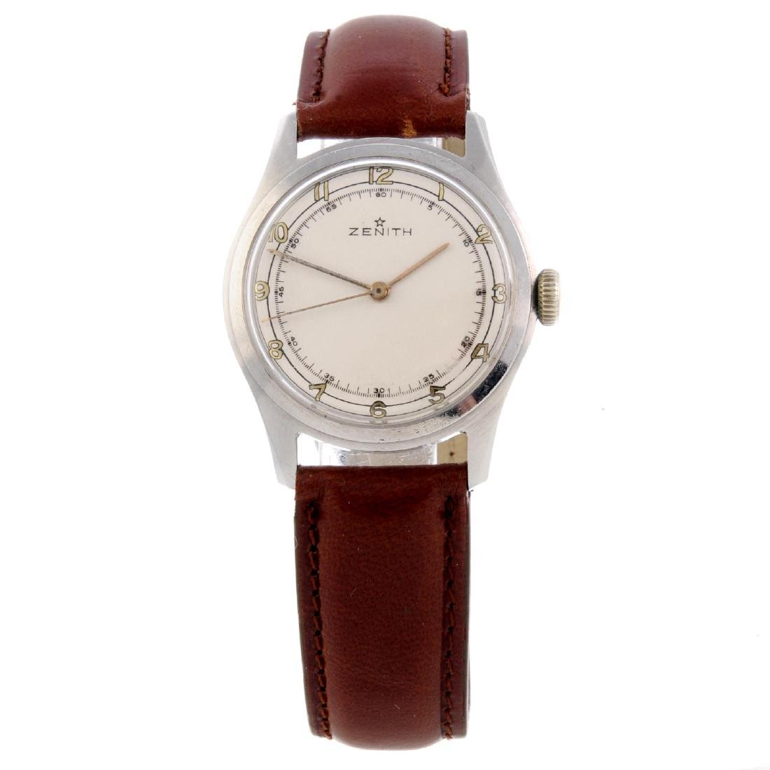 ZENITH - a gentleman's wrist watch. Stainless steel