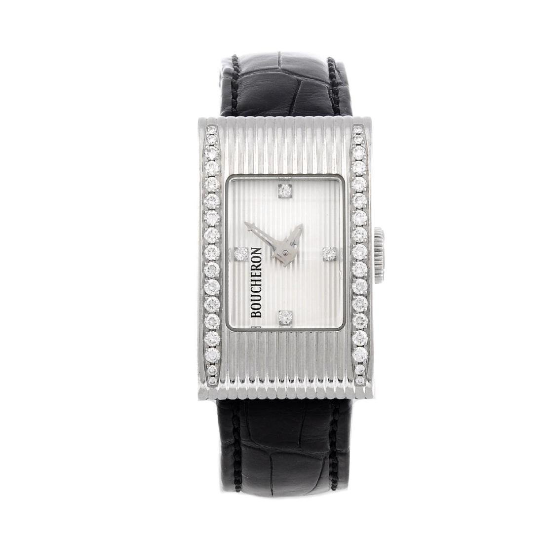 BOUCHERON - a lady's wrist watch. Stainless steel