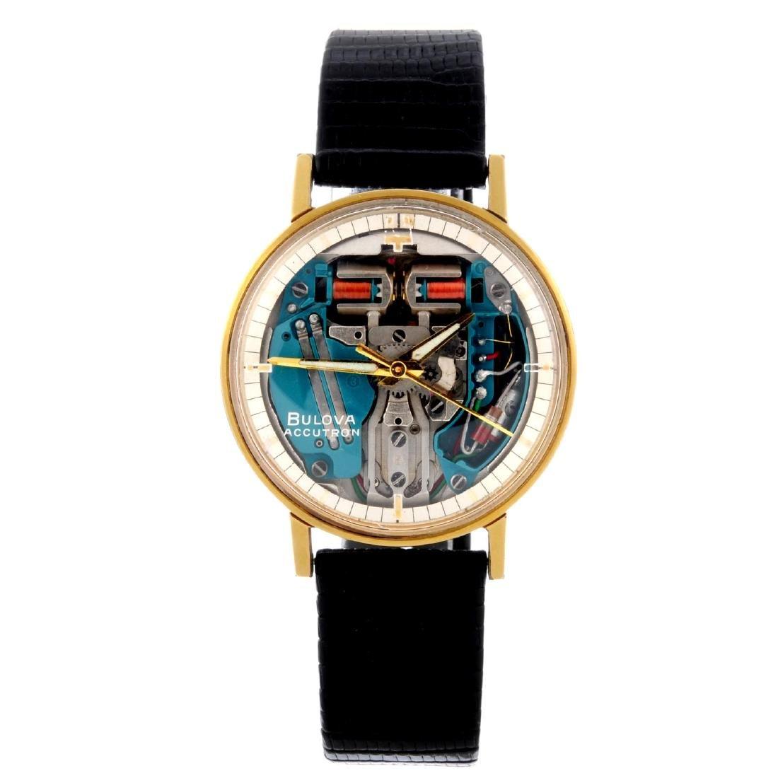 BULOVA - a gentleman's Accutron Spaceview wrist watch.