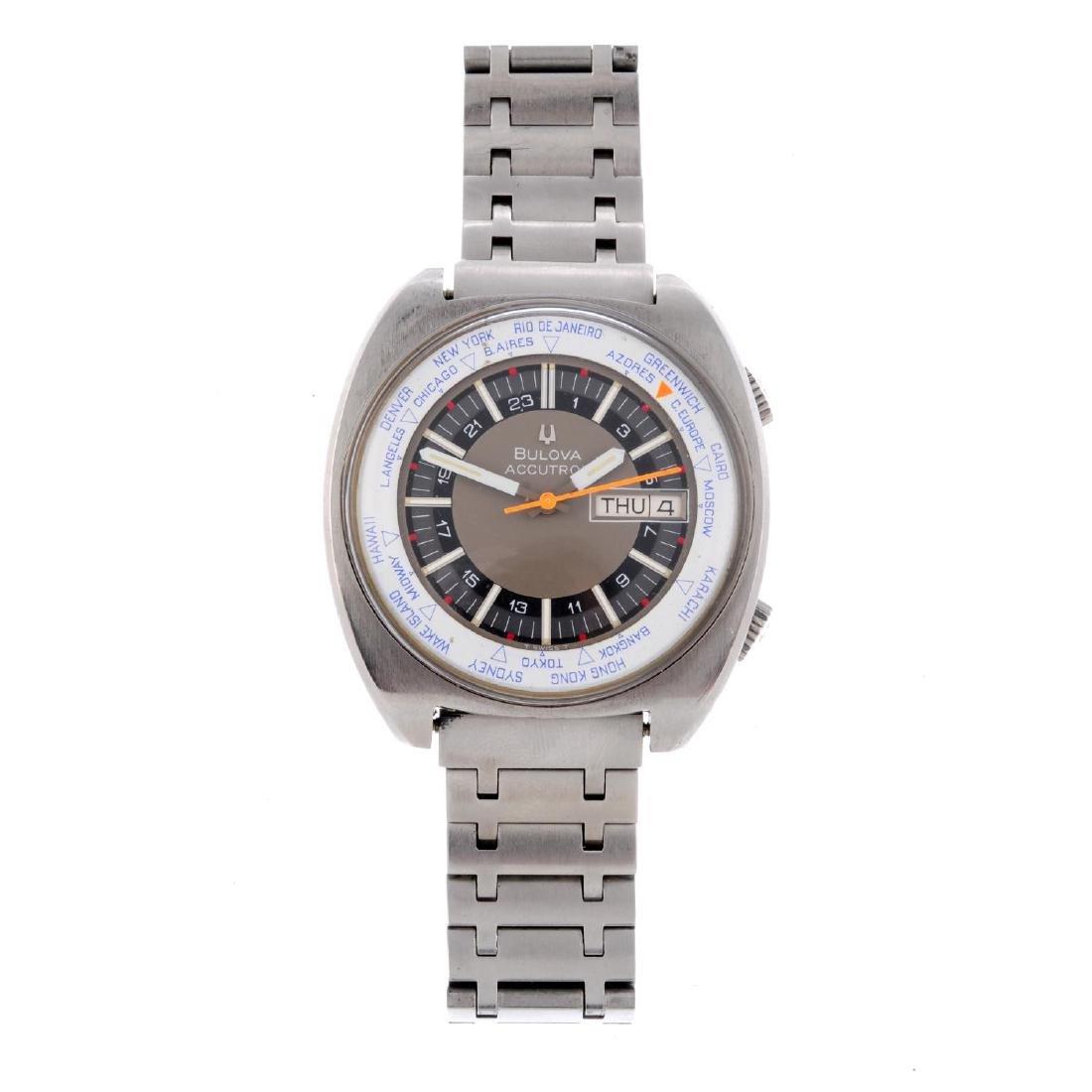 BULOVA - a gentleman's Accutron World Time bracelet