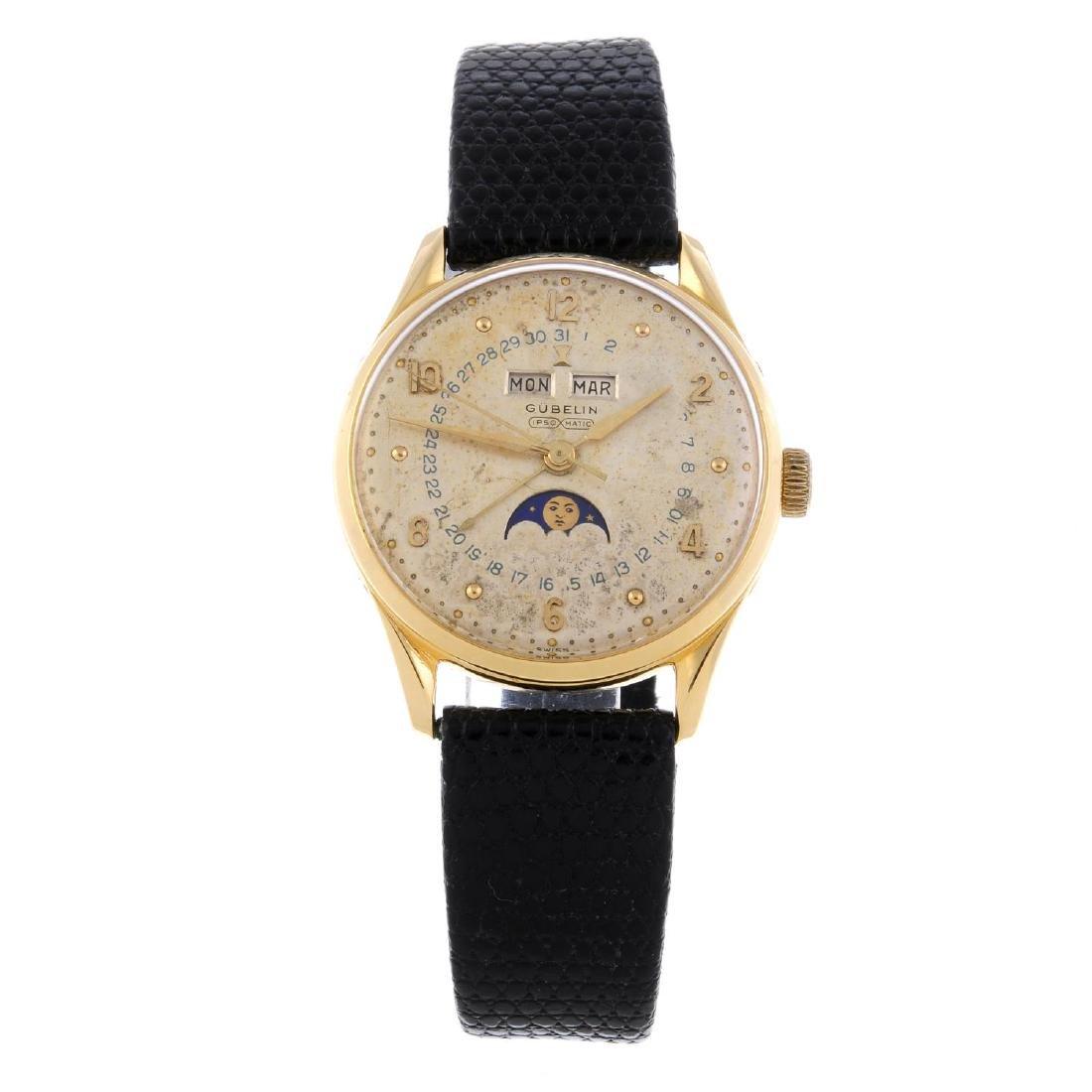 GUBELIN - a gentleman's Ipsomatic wrist watch. Yellow
