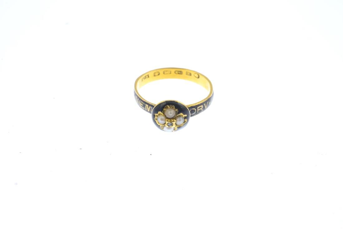 A mid Victorian 18ct gold split pearl, diamond and - 2