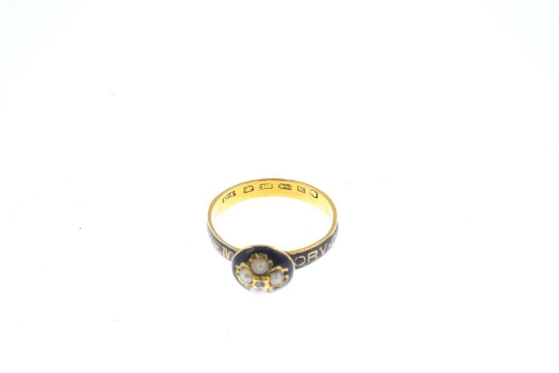 A mid Victorian 18ct gold split pearl, diamond and - 3