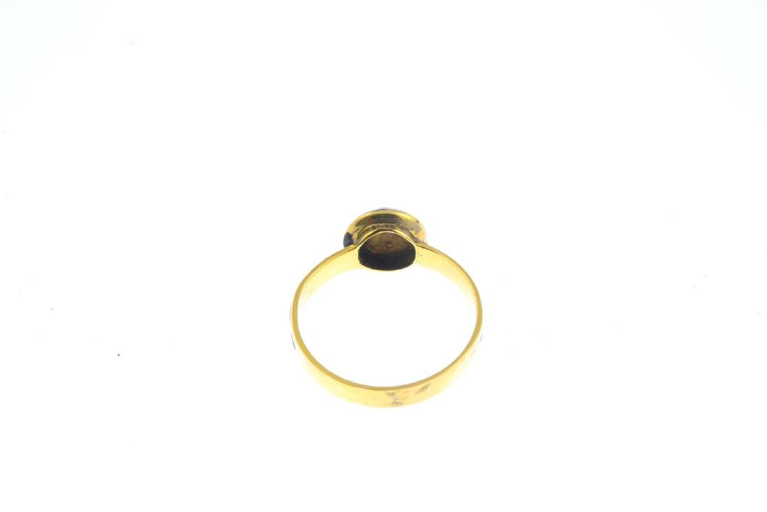A mid Victorian 18ct gold split pearl, diamond and - 4