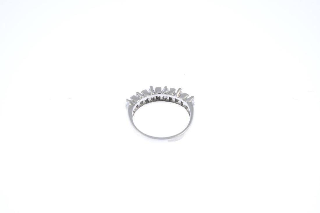 An 18ct gold diamond half eternity ring. The - 3