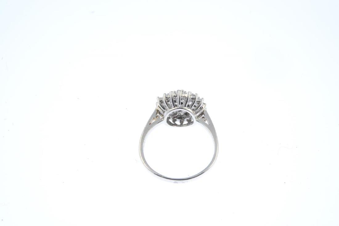 A 9ct diamond cluster ring. Designed as a brilliant-cut - 3