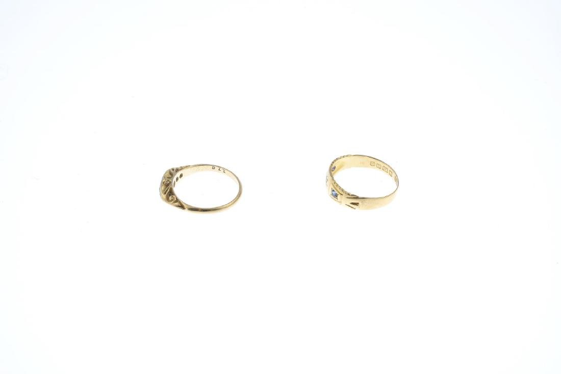 Two diamond rings. To include an Edwardian 18ct gold - 2