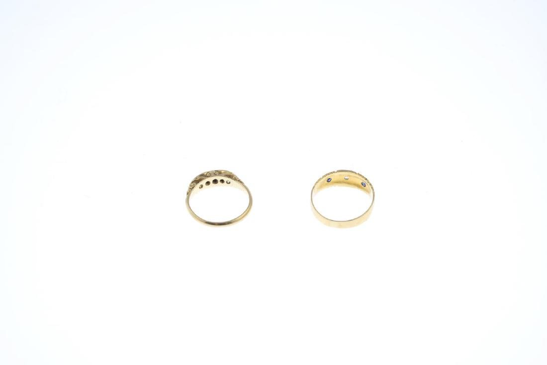 Two diamond rings. To include an Edwardian 18ct gold - 3