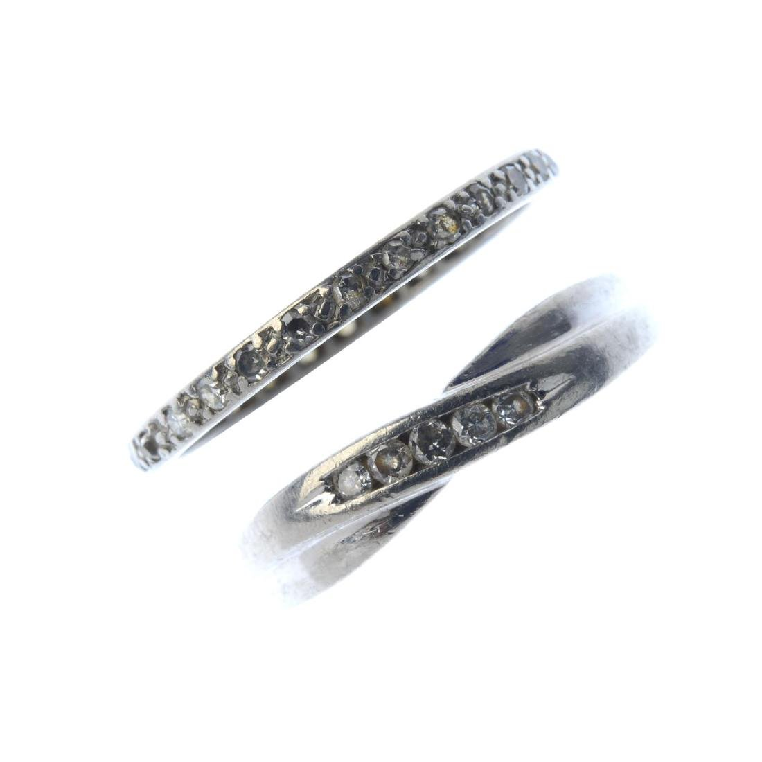 Two diamond rings. To include a platinum brilliant-cut