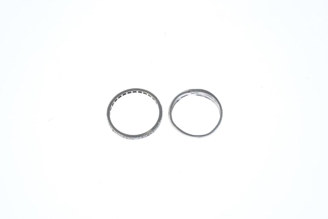 Two diamond rings. To include a platinum brilliant-cut - 2
