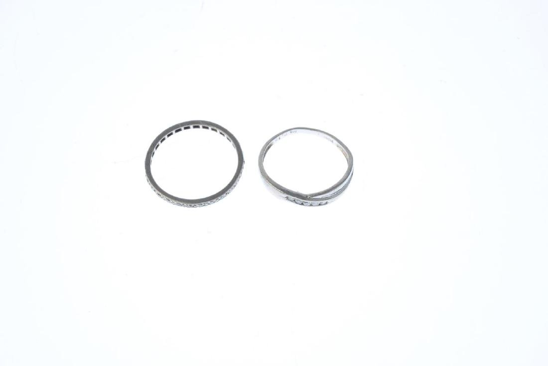 Two diamond rings. To include a platinum brilliant-cut - 3