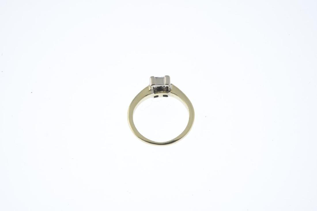 A diamond four-stone ring. The square-shape diamond - 3