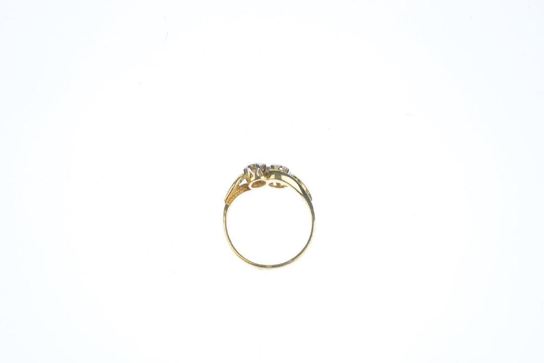 A 9ct gold diamond ring. Designed as a brilliant-cut - 2