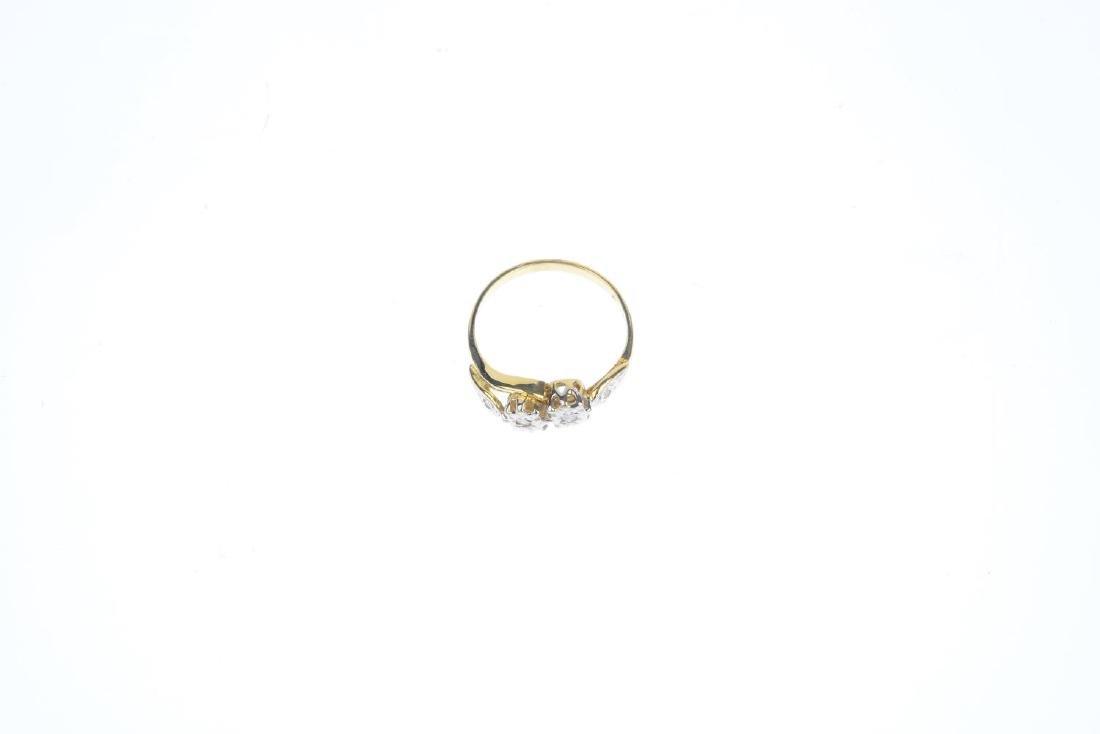 A 9ct gold diamond ring. Designed as a brilliant-cut - 3