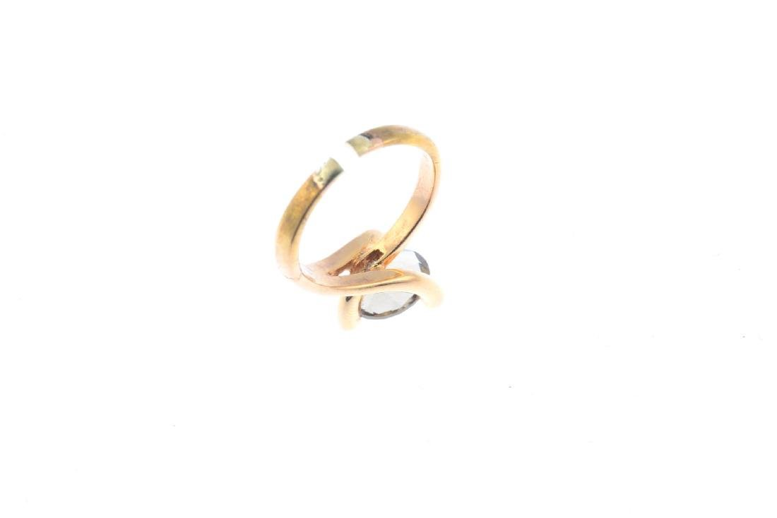 An 18ct gold andalusite and diamond ring. The - 3