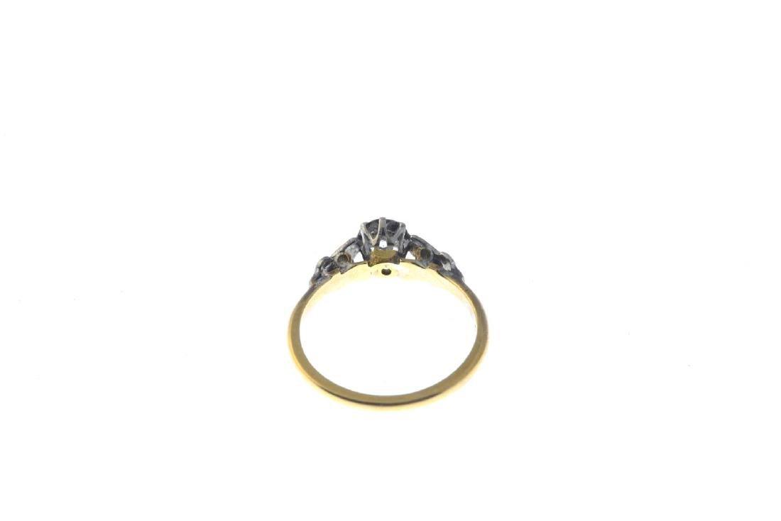 A diamond single-stone ring. The brilliant-cut diamond, - 3