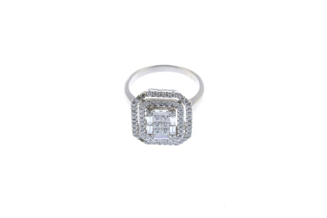 An 18ct gold diamond dress ring. Designed as a vari-cut - 2