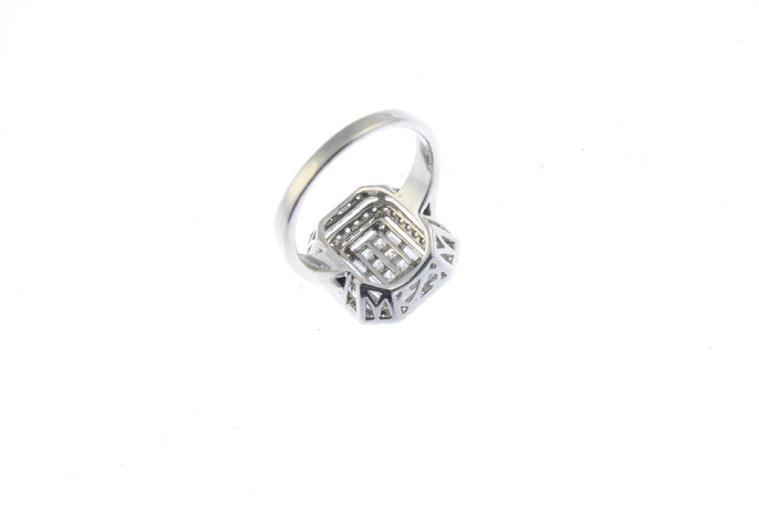 An 18ct gold diamond dress ring. Designed as a vari-cut - 3