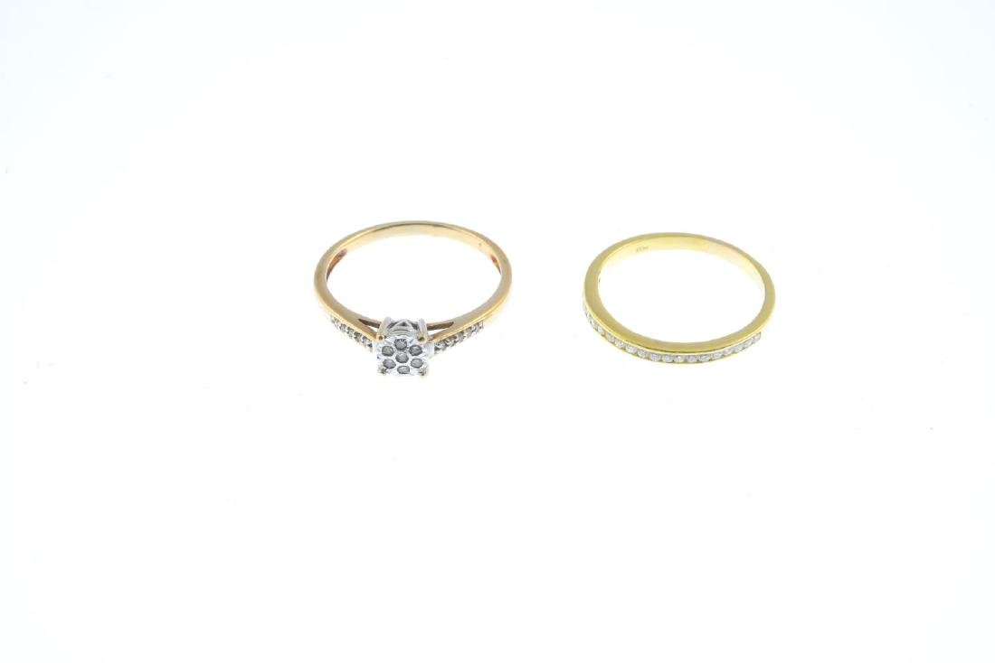 Two diamond rings. To include an 18ct gold - 2