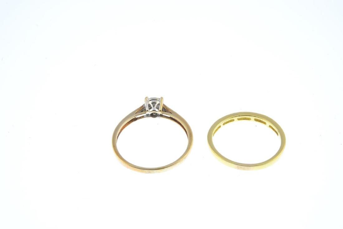 Two diamond rings. To include an 18ct gold - 3