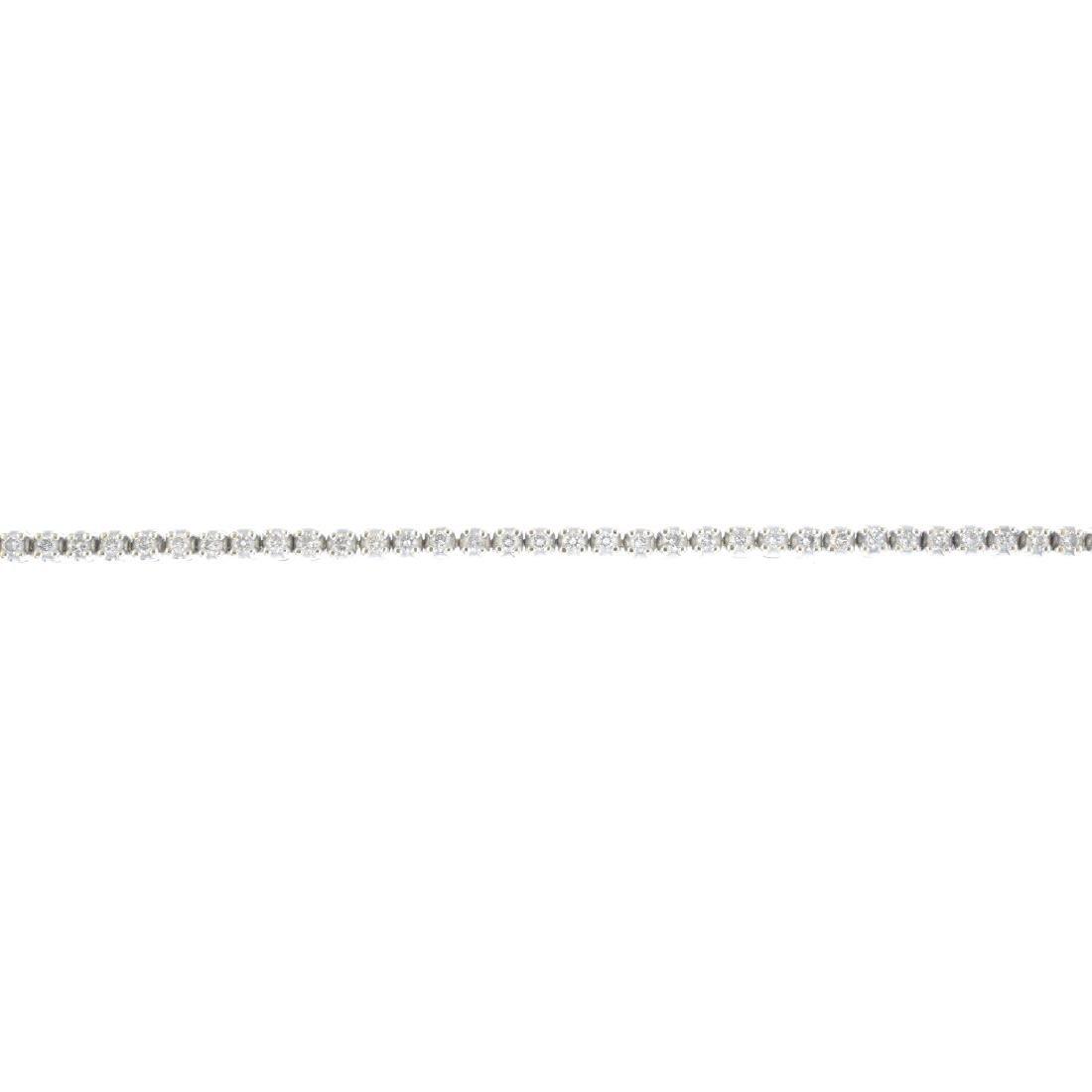 A diamond bracelet. Designed as a brilliant-cut diamond
