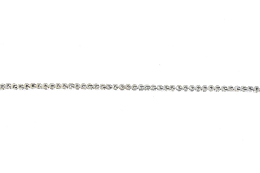 A diamond bracelet. Designed as a brilliant-cut diamond - 2