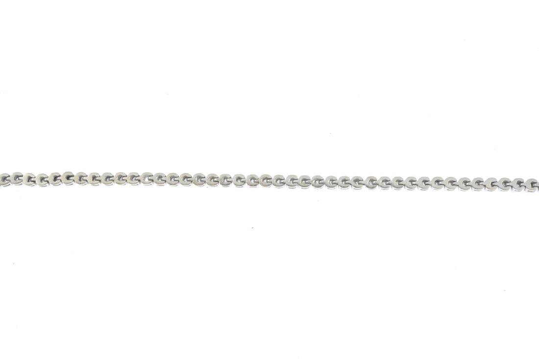 A diamond bracelet. Designed as a brilliant-cut diamond - 2
