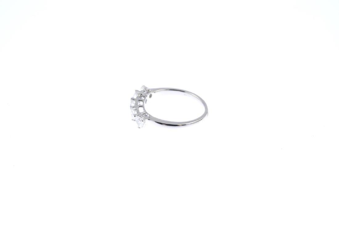 A diamond five-stone ring. The heart-shape diamond - 2