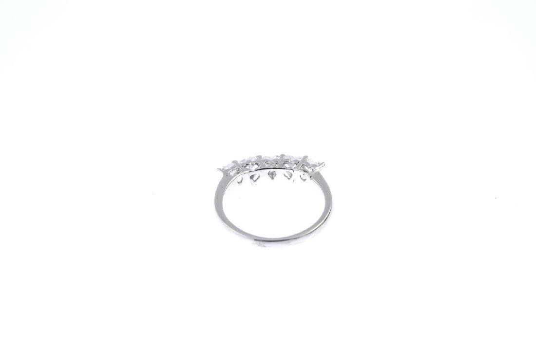 A diamond five-stone ring. The heart-shape diamond - 3