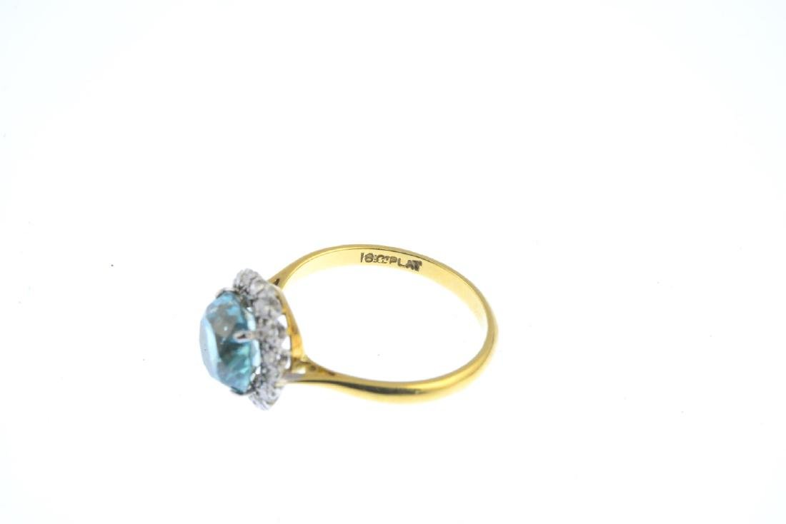 An early 20th century 18ct gold zircon and diamond - 2