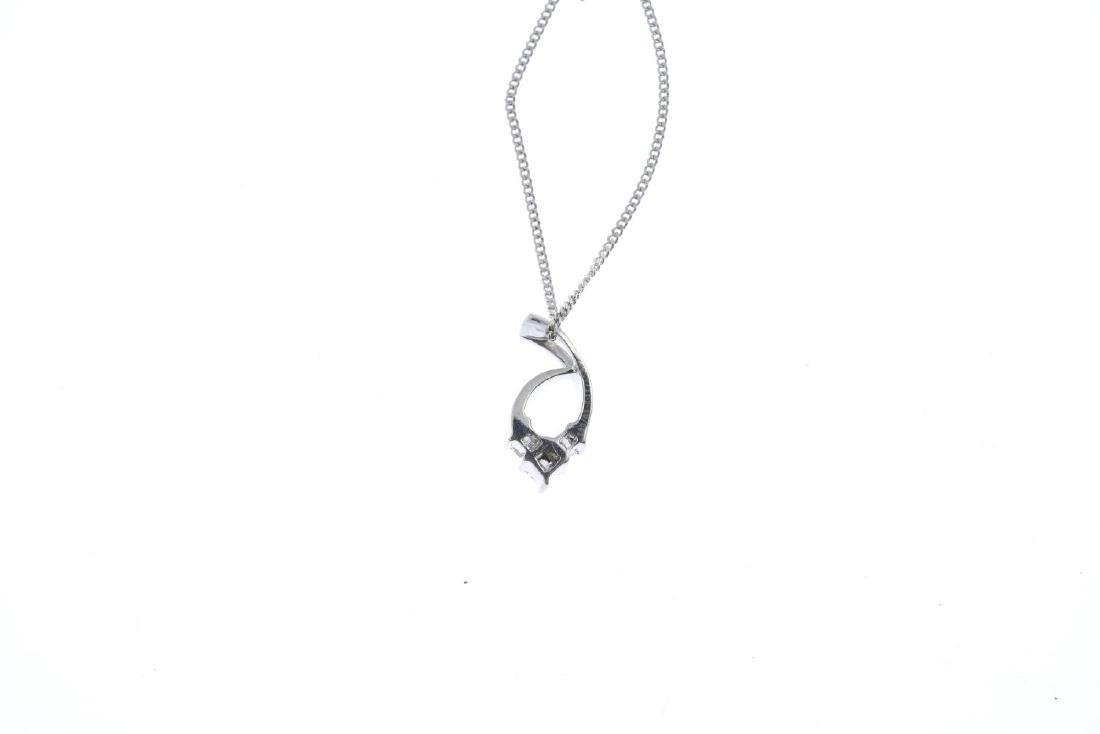 A diamond pendant. The square-shape diamond chevron, - 2