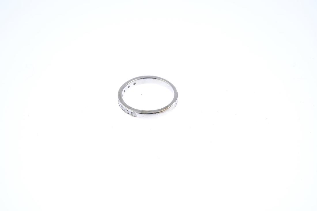 An 18ct gold diamond half eternity ring. Designed as an - 2