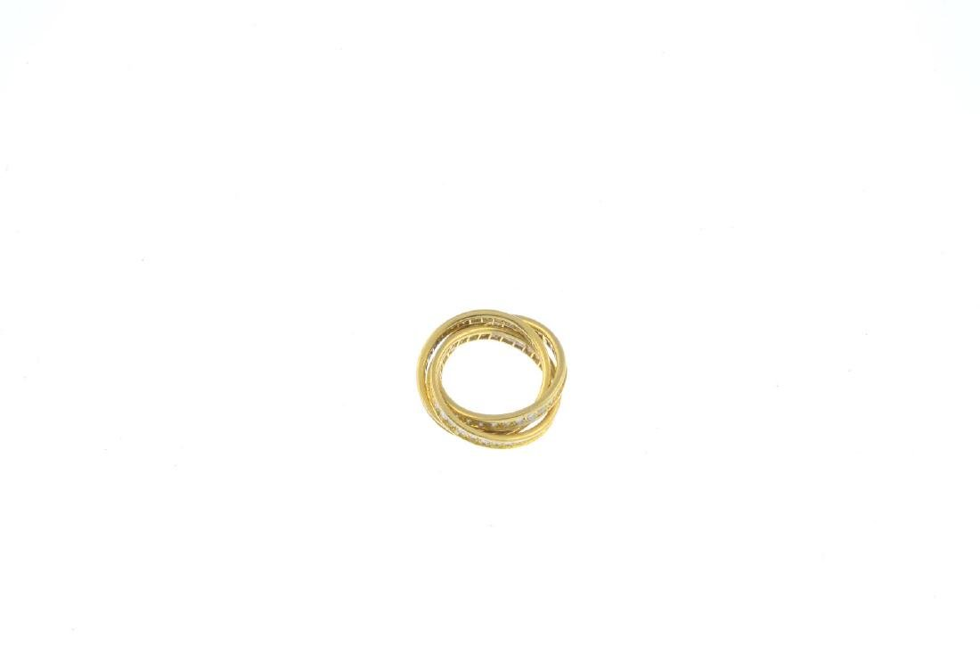 A diamond three-band full eternity ring. Designed as - 2