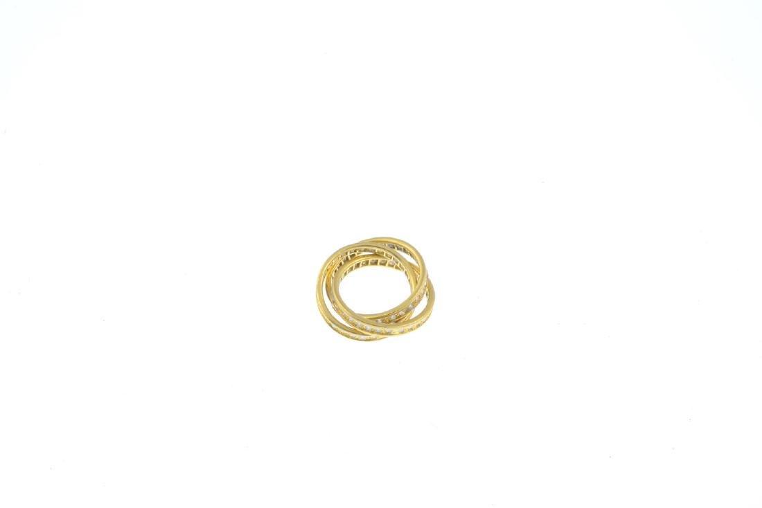 A diamond three-band full eternity ring. Designed as - 3